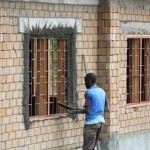Fundi working on window
